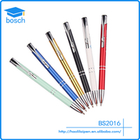Cheap engraved metal pen for office & school supplies color pen for advertising