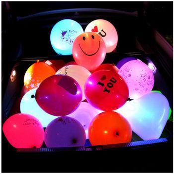 Illuminated Led Ballon Glow Light Up Parties Halloween Happy Birthday Balloons