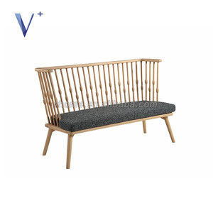 Natural solid wood garden furniture cross back wood chair beach chair wood