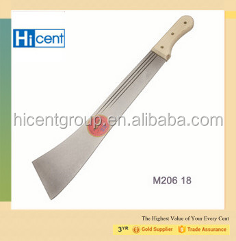 High Quality Agricultural farm/hand tools M206 Machete with plastic/wooden handle