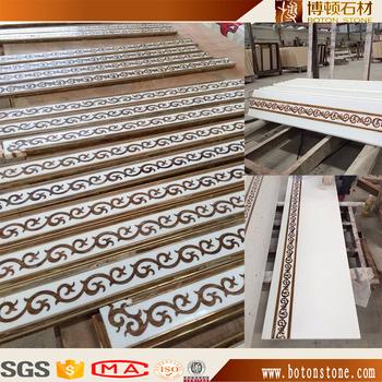 Waterjet Marble Flooring Tile Border Designslobby Marble Inlay