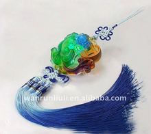 crystal fengshui pixiu/dragon with knot for Car hanging decoration--BC011