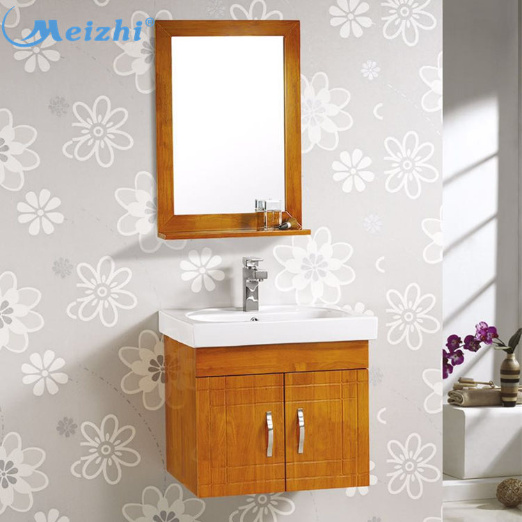 Sanitary ware hanging solid wood bathroom cabinet