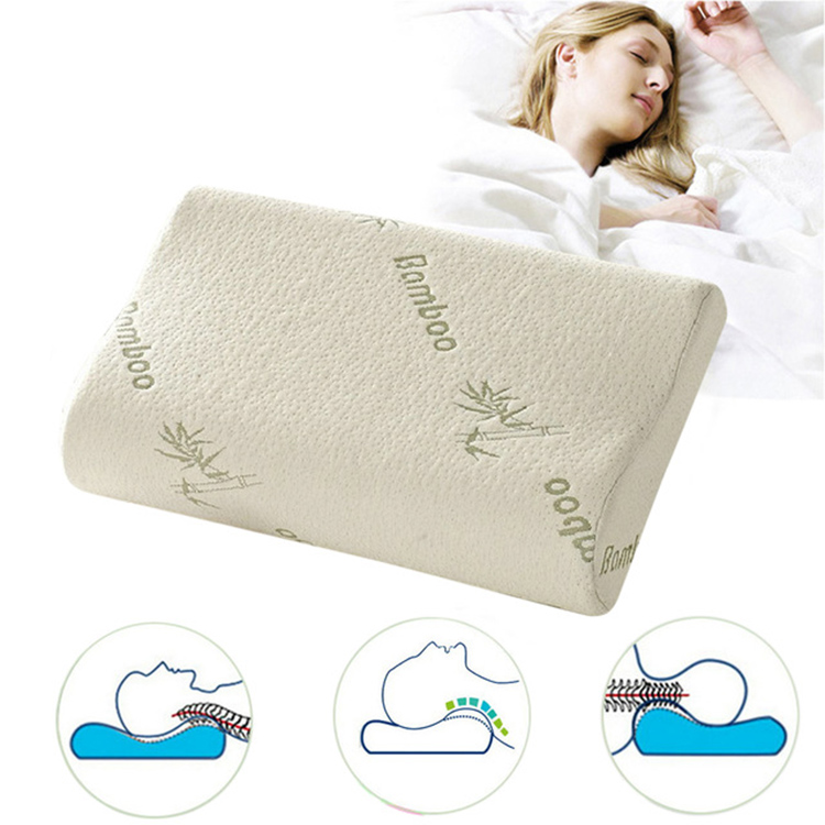 Orthopedic Curved Cervical Vertebrae Neck Pain Relief Contour B Shape Anti Snore Memory Foam Pillow