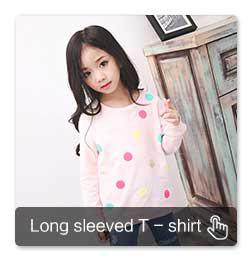 เด็กสาวใหม่ 100% ผ้าฝ้ายลายเสื้อยืดแขนยาว, รอบคอและเปิดปุ่ม