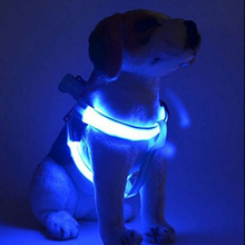 Groothandel Nylon Veiligheid Pet Dog <span class=keywords><strong>Harnas</strong></span> Glow Led Flash Knipperlicht Up Leash Tether Led <span class=keywords><strong>Hond</strong></span> <span class=keywords><strong>Harnas</strong></span>