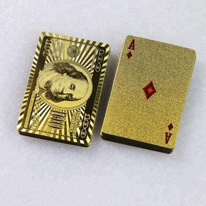 High Quality waterproof Gold PET Play Cards Gold\Silver Foil Play Poker for entertainment venues\poker cards
