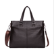 The first layer of cowhide shoulder oblique male bag leather bag business casual bag men handbag horizontal section new