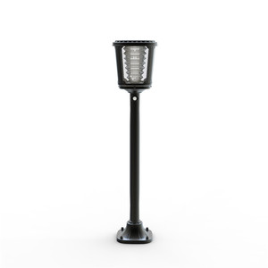 New euro style led gate post pillar lamp solar outdoor lighting for garden