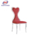 high back fabric white leather dining chairs with low price