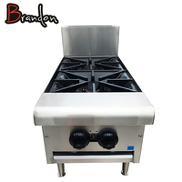 Kitchen Equipment Gas Stove Cast Iron Burner Indoor Table Top 2 Burner Gas Stove For Restaurant