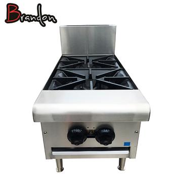 Peralatan Dapur Kompor Gas Besi Cor Meja Top 2 Burner Dalam Ruangan Untuk