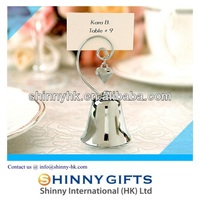 Wedding Decoration Silver Bell Place card Holder Wedding Favors