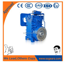 Easy maintainable twin helix extruder drives transmission gearbox belt drive