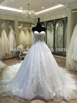 2017 New Arrival Sweetheart Ball Gown Cinderella Wedding Dress
