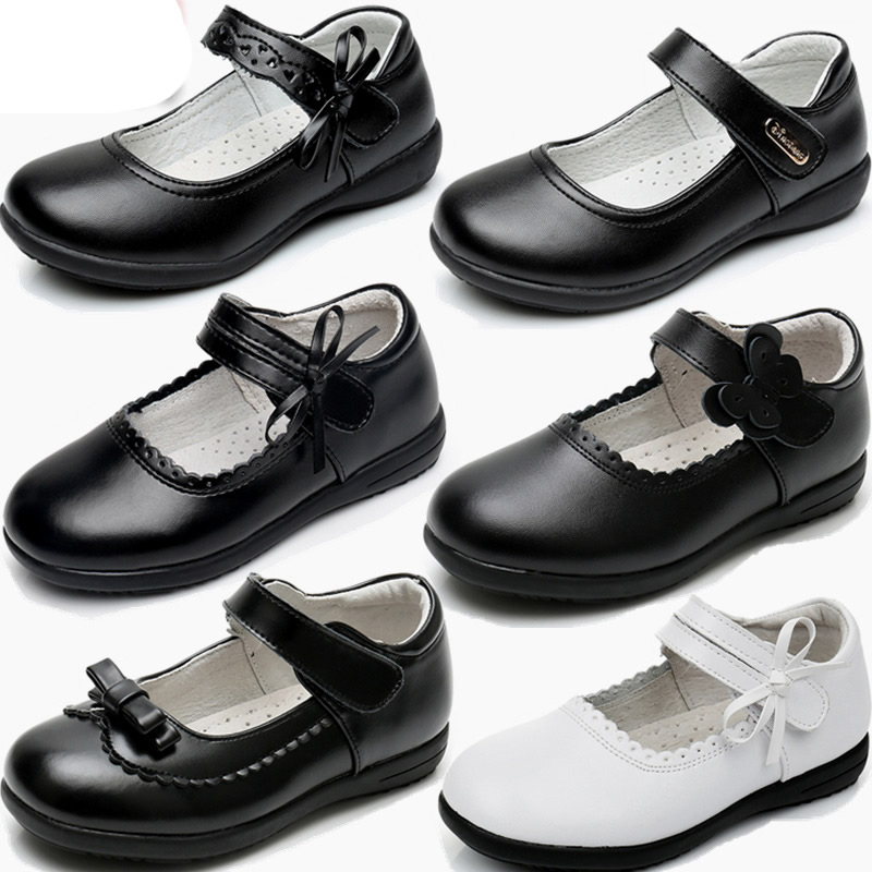GUGUTREE 26-41# girls leather school dress shoes 8808,children girls school shoes
