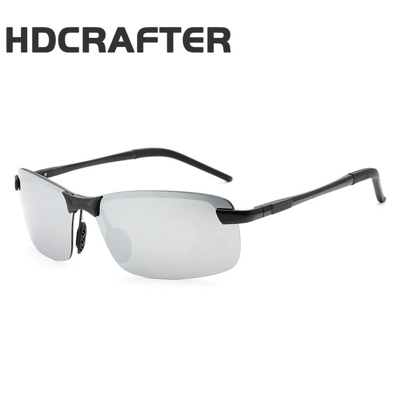 HDCRAFTER Fashion Shades Male Sun Glasses Black Eyewear Outdoor New Polarized Men Sunglasses фото