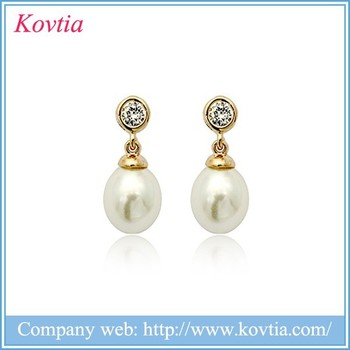 Handmade Jewelry Thailand Seed Pearl Pendant Earrings One Gram Gold Jewellery