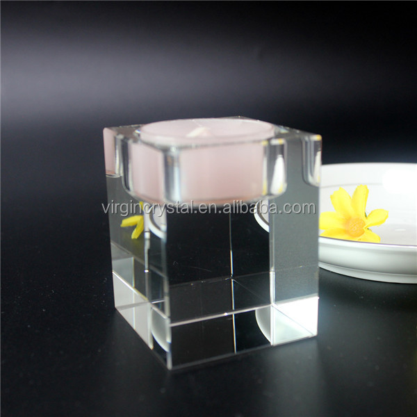 China Factory Supply wholesale transparent Crystal Candlestick holder for Party Decoration or wedding decoration