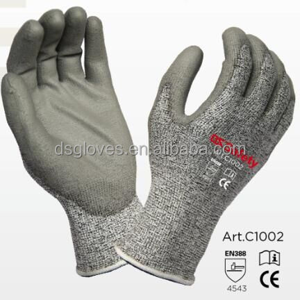 HPPE cut resistant gloves/HPPE anti cutting gloves/safety gloves /cutting glove resistant