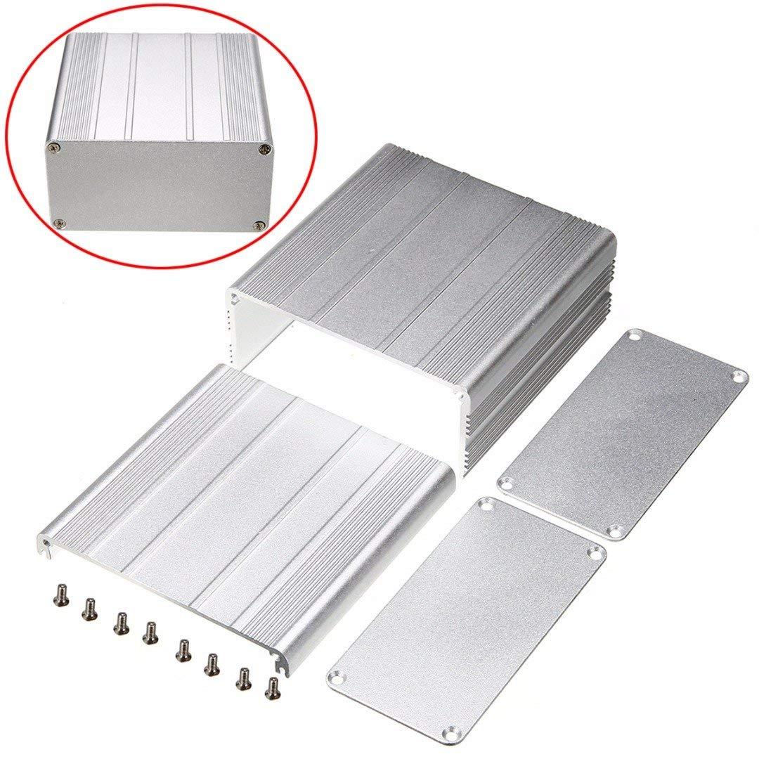 Extruded Aluminum Enclosure Case DIY Electronic Project PCB Instrument Box DIY 100x100x50mm