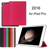 2016 hot selling 9.7 Inch standing leather flip folio cover tablet genuine leather case for ipad pro