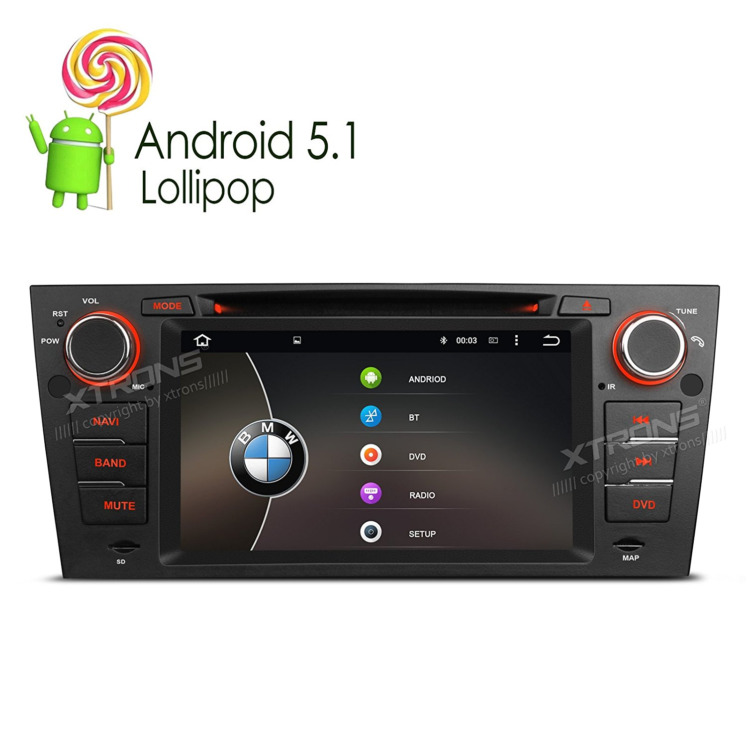 Cheap Bmw E90 Double Din Find Deals On Line At 328i Get Quotations Xtrons 7 Inch Quad Core Android 51 Lollipop Car Stereo Multi Touch Screen Radio Dvd