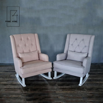 Marvelous Support Customization French Style Antique Solid Oak Wood Button Tufted Upholstered Rocking Chair Room Buy Unfinished Wood Rocking Beatyapartments Chair Design Images Beatyapartmentscom