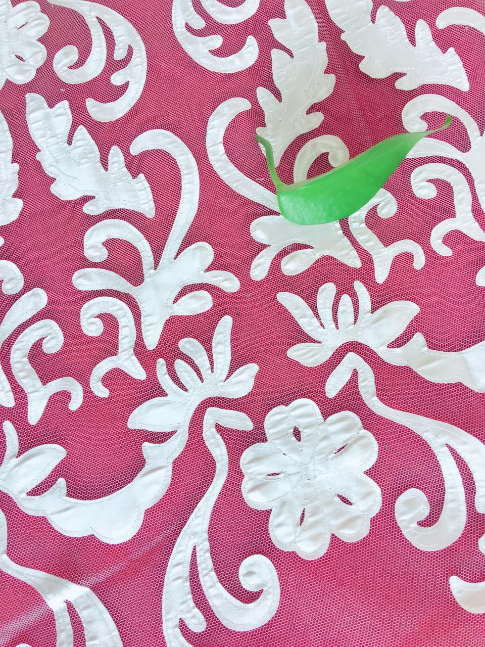 2017 new laser cutting chemical satin embroidery lace fabric