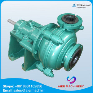 heavy duty anti-abrasive gold mining diesel powered slurry pump