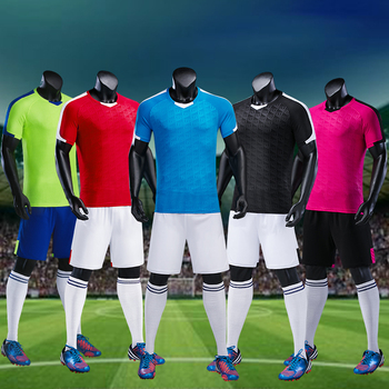 599af33ee49 Wholesale Customized Soccer Jerseys Youth Cheap Blank Football Shirts  Adults Kids DIY Team Uniforms Training Clothes