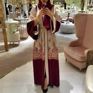 Long Robe Gowns Tunic Jubah Middle East Ramadan Arab Islamic Clothing Fashion Muslim Print Abaya Full Dresses Cardigan Kimono