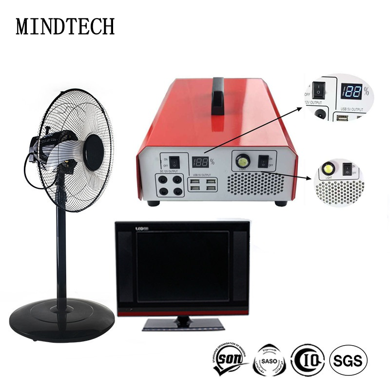 MINDTECH 2018 New portable 500w 1000w 2000W solar power system for home use / good solar power generator