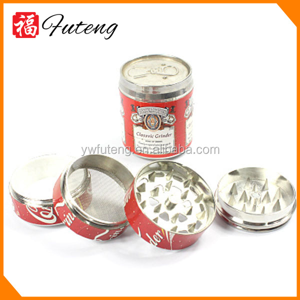 Hot selling tobacco decorated dry herbal Can herb grinder Cigarette grinder