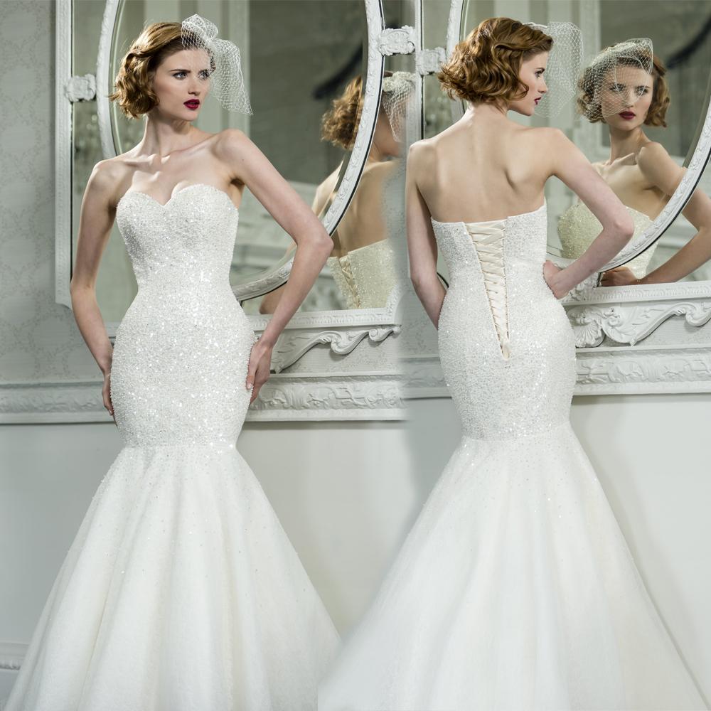 Sequin Wedding Dress: Luxury Sexy Trumpet Mermaid Wedding Dresses Sweetheart