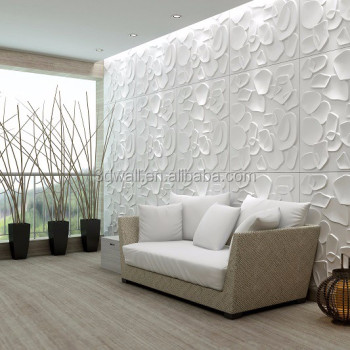 Living Room Sofa Tv Back Ground Decorative 3d Pvc Wall Panel For Sale