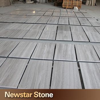 China hot sales white wood grain thin marble tiles