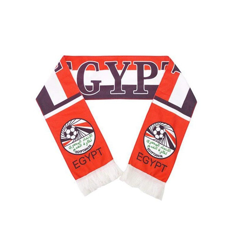 Oempromo wholesale knitted 100% acrylic football fan scarf