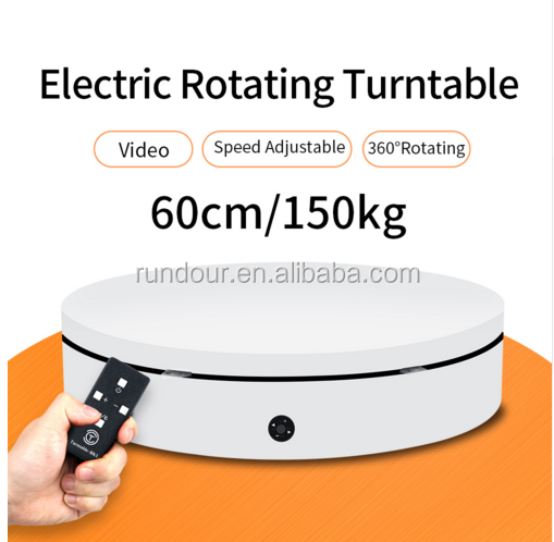 White/Black  ND-RC6013 with remote control photography Rotating Shooting Table 60cm 360 Degree turntable display