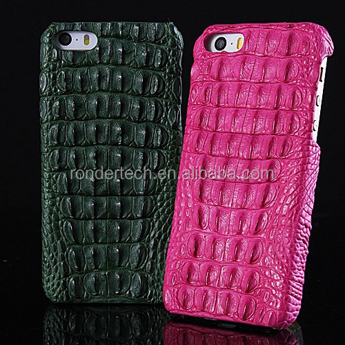 Luxury crocodile case for iphone 6 plus high quality crocodile skin case for iPhone5 5s 6 6plus