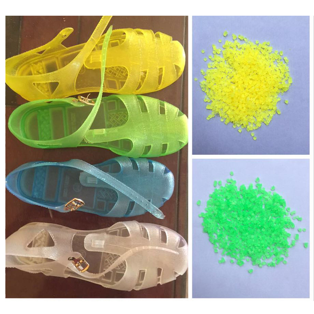 Low price factory direct sale pale yellow pvc granules for shoe
