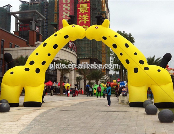 Charming ! ! ! Customized Size Oxford Cloth Outdoor Inflatable Giraffe Arch/Inflatable Animal Arch For Promotion Activities