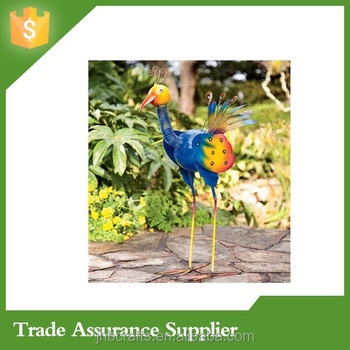 Colorful Peacock Garden Statue Metal Garden Stake Wholesale