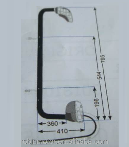 Truck parts TRUCK MIRROR BRACKET WITH CONTROL AND HEAT CABLE LH 0018109714 0028105414 0028108514 for MB ATEGO II AXOR II