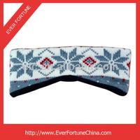 2014 Polar Fleece Lining Acrylic Jaquard Knit Sports Headband