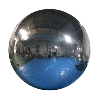 Floating PVC Silver Chrome Reflective Inflatable Mirror Ball for Decoration