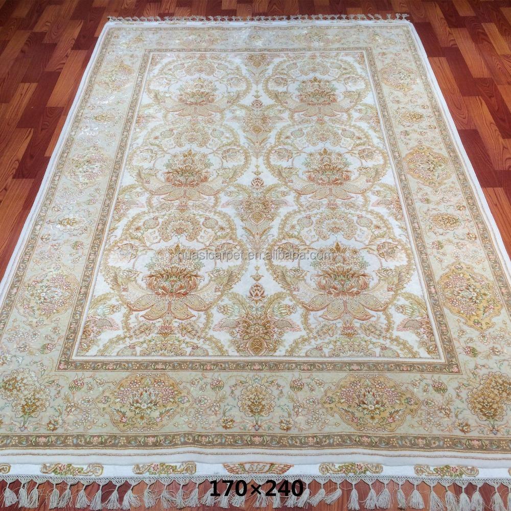 Pure Merino New Zealand Wool Silk Blend Carpet 6 X 4 1 80 Meters 20