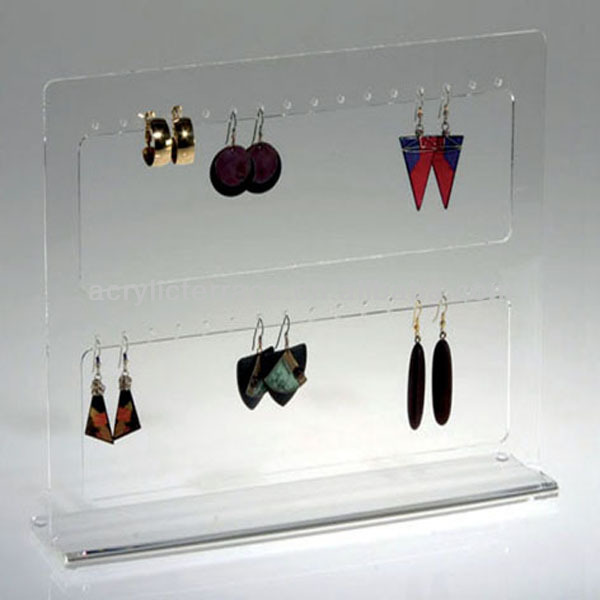 Acrylic Lucite Jewellery Earrings Window Display Stand Vjs010