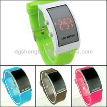 Mirror Men Lady LED Digital Sport Unisex Watch Gift Jelly by Led Watch