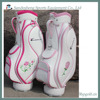 OEM customized pu ladies pink golf bag in pink